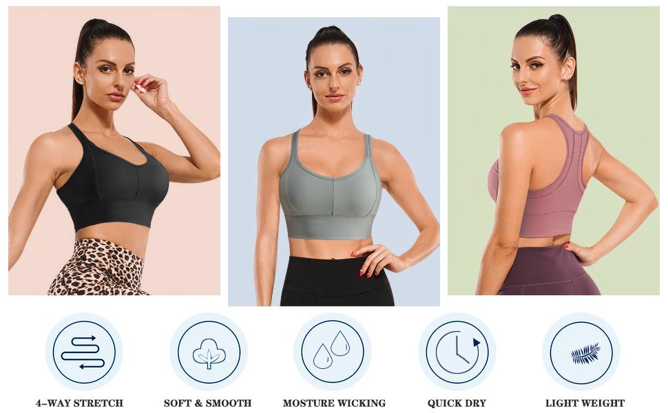 women's seamless non-wireless sports bra with removable padding Women's Racer Vest Sports Bra top