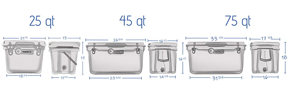 thermik cooler dimensions