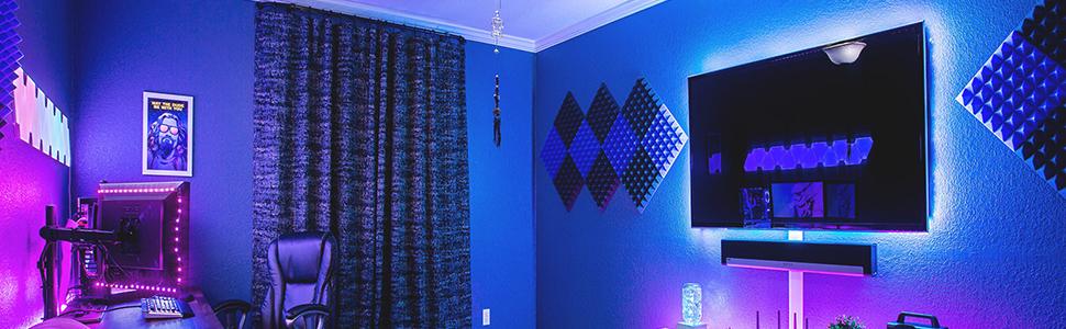 LED strip light bedroom