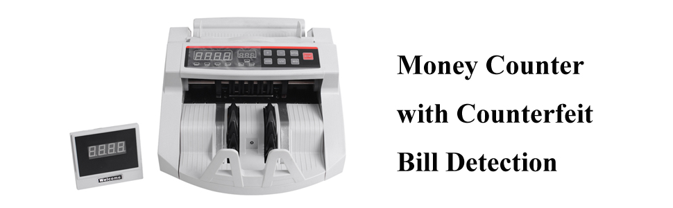 Fencia Money Counter Cash Counting Machine Counterfeit Detector UV//MG Bill Counter US Shipping