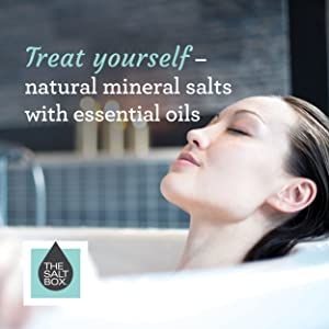 Woman bath self care essential mineral salt oils