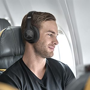 These foldable wireless headphones are lightweight (only 10 oz!), and easy to carry in compact case