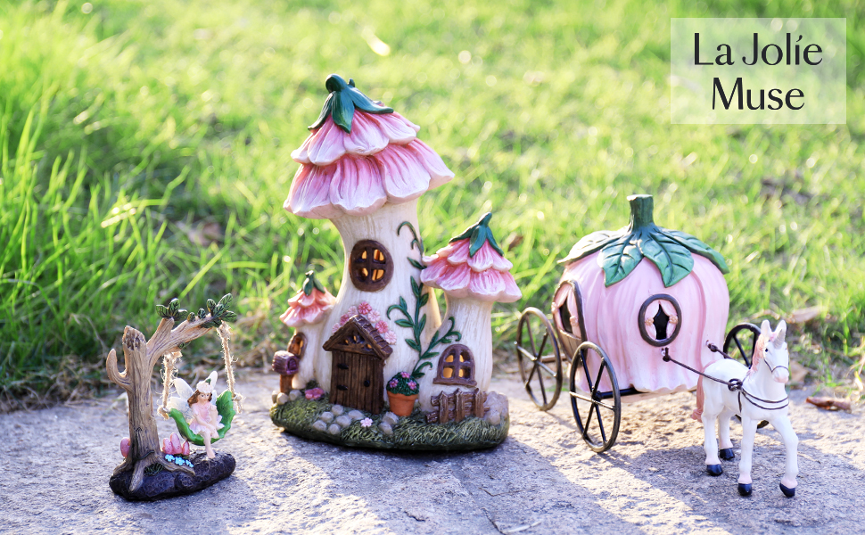 Fairy Garden Carriage Accessories Kit