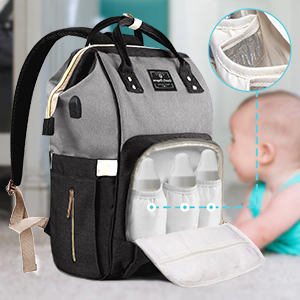 Insulated Pocket bottles Diaper Bags