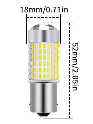 Fari Led super luminosi per indicatori di direzione xenon bianco da 1500/lumen retro 7506 1141 1095 1073 confezione da 2 pezzi 1156 BA15S 3014-144 SMD TUINCYN luci di posizione