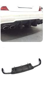 fits Mercedes Benz W204 Sport C250 C300 C63 AMG 2012-2015 Carbon Fiber Rear Lip Diffuser Spoiler