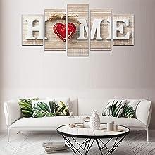 Heart of Home Love Wall Art Canvas