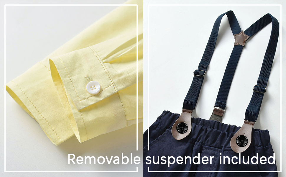 Removable suspender included