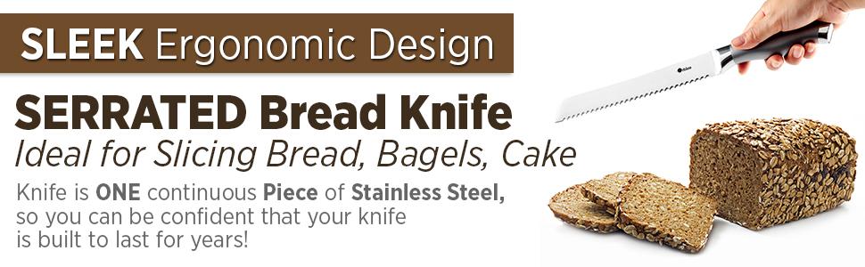 Bread Knife Bread Knives Serrated Bread Knife Stainless Steel Bread Cutter Loaves Bread Bagels Cake