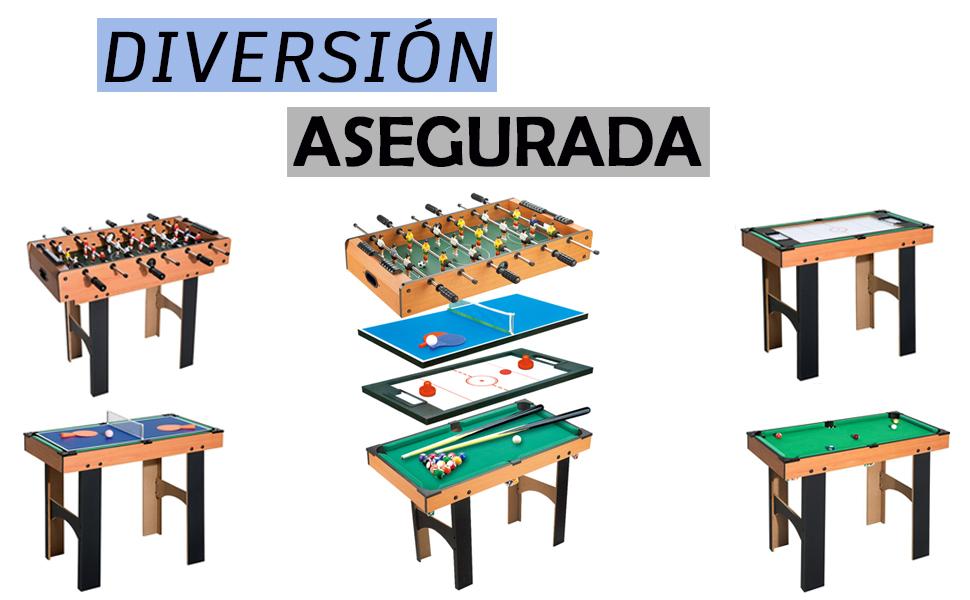 CalmaDragon Mesa Multijuegos Plegable 4 en 1 Billar, Medidas: 87 x 43 x 73cm. Ping Pong, Hockey y Futbolín Regalo ideal para toda la Familia: Amazon.es: Deportes y aire libre