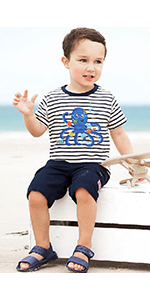 kids  comfortable short sleeved tops