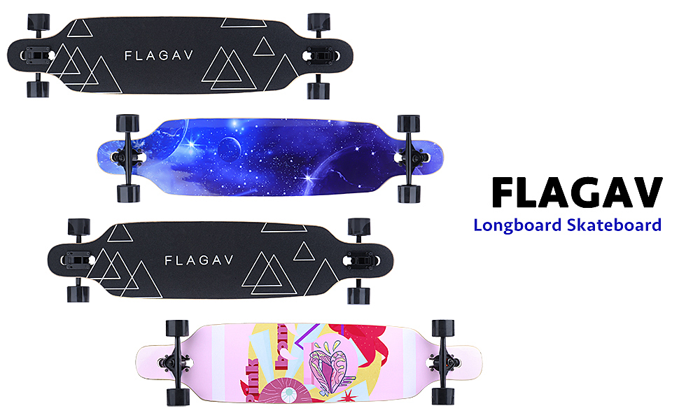 Carving FLAGAV Longboard Skateboard 41 inch Complete Skateboard Cruiser for Cruising Free-Style and Downhill