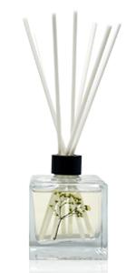 LOVSPA Square Glass Bottle Reed Diffuser Oil Scent sticks Gift Set. Home Air Freshener, 4.5 ounces
