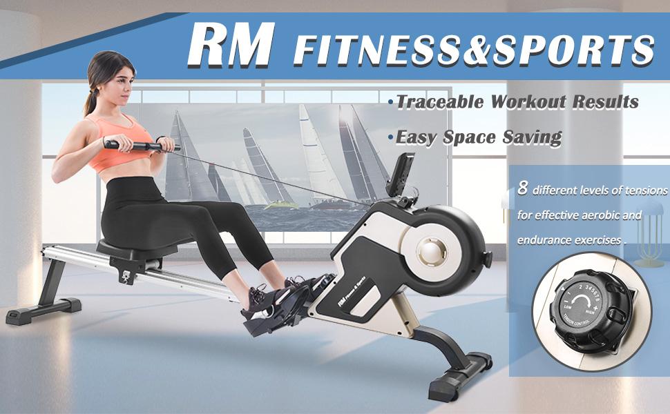 Lahomie Home M/áquina de remo para ejercicios cardiovasculares para interiores y gimnasios