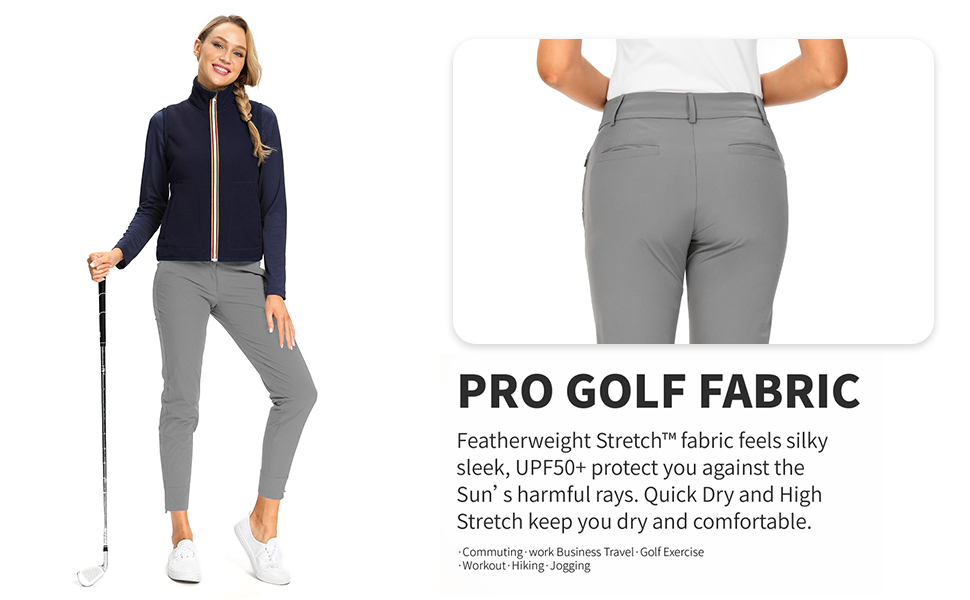 Golf Pants Vented Golf Pants Ladies Pants Work Chino Ladies Pants Anytime Pants Straight Leg Pant