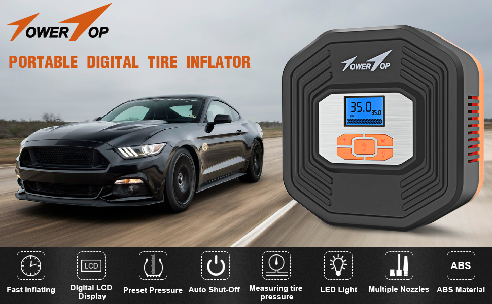 509f35f8 2edd 4530 9712 6a9320b1dae0. CR0,0,970,600 PT0 SX970 V1 - Air Compressor, 12V DC Portable Auto Tire Inflator Air Compressor, Car Tire Pump with Digital Display Pressure Gauge for Car, Bicycle, Sport Balls and Other Inflatables (Type 1)