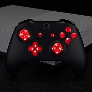 LED kit Leuchttasten Tasten D-pad Thumbsticks ABXY Buttons für Xbox One Standard S/X Controller