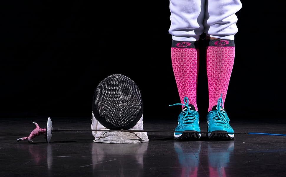 d/étente /& circulation sanguine pendant le sport//voyages//vol BKNEES Chaussettes de Compression 9 Couleurs //3 Tailles - 20-30 mmHg - Bas de Compression Sport Am/éliore performance