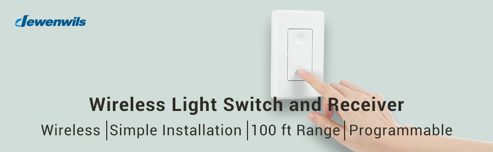wireless light switch and receiver