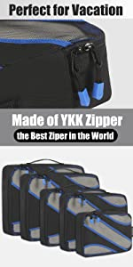 5 Set Packing Cubes with YKK Zippers