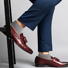 Grey Mid Ankle Socks