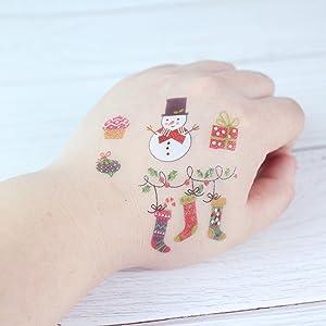 Tatuajes Temporales para Niños Niñas Tatuaje de Navidad Tatuajes ...