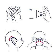Biodefence FFP2 & FFP3 Instrucciones de uso de la mascarilla_Colocación