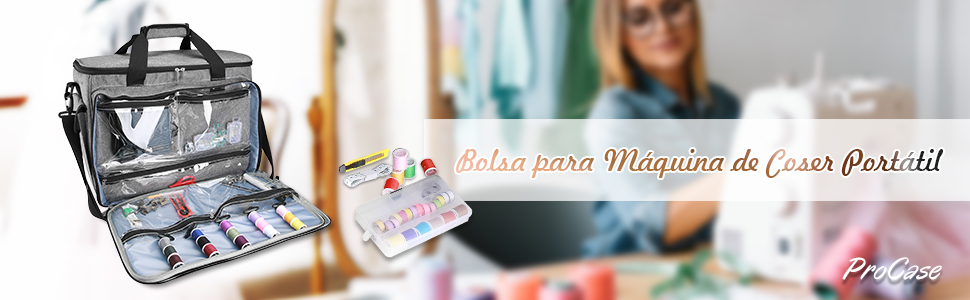 ProCase Bolsa Universal para Máquina de Coser Portátil, Bolso de ...