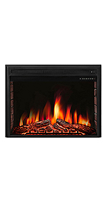 Insert electric fireplace 36 inch