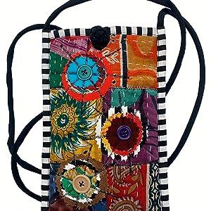 Recycled Sari Cell Phone Bag