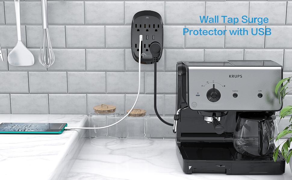 wall tap surge protector