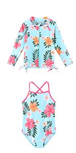 girls swim shirt zipper
