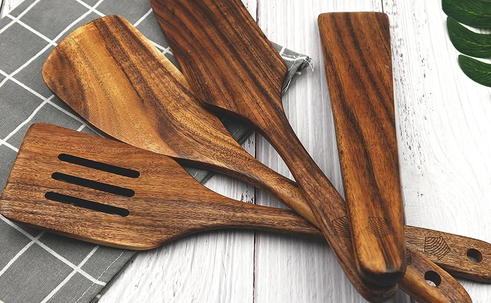 nonstick wok, spurtle set, wood spatula, cast iron cookware set, nonstick cookware set, accessories