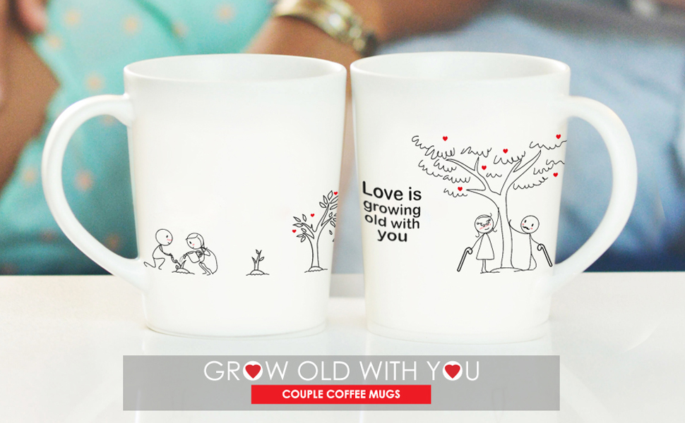 couples gifts coffee mugs set for him her gifts girlfriend wife anniversary 2 year cotton wedding