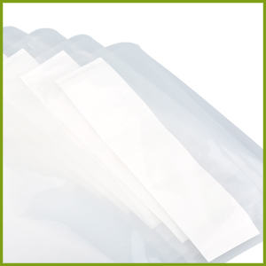 close up of vacuum seal pouch liquid block feature