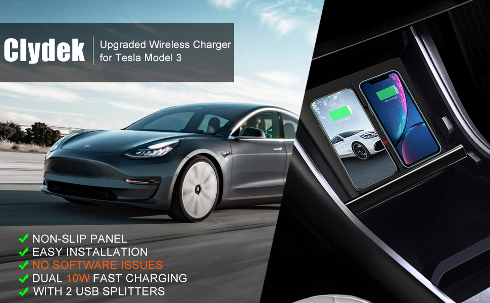 model 3 wireless car charger