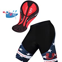 cycling jersey short with gel pad