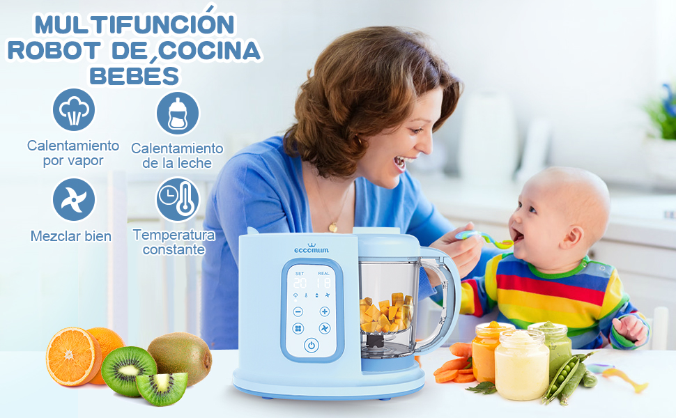 Robot de cocina Eccomum Cocina al Vapor Procesador de Alimentos ...
