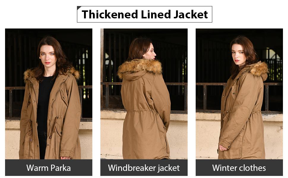 winter anorak jacket women ladys winter coat hooded jacket for women