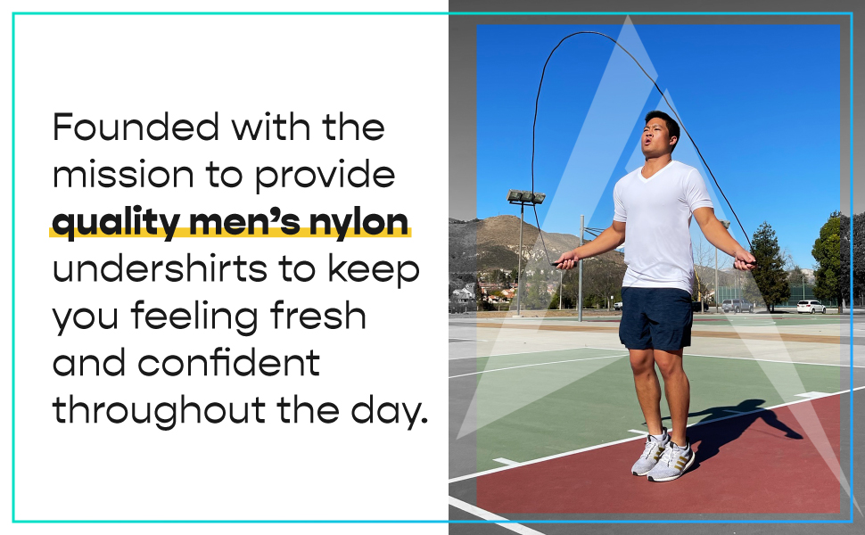Man Jumping rope with Undershirt on