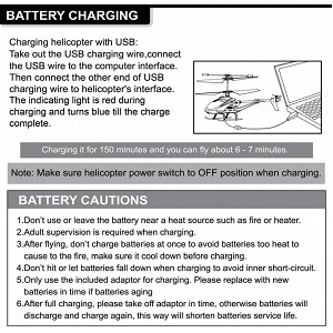 CHARGING INSTRUCTIONS