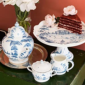 juliska country estate deflt blue ceramic dishware