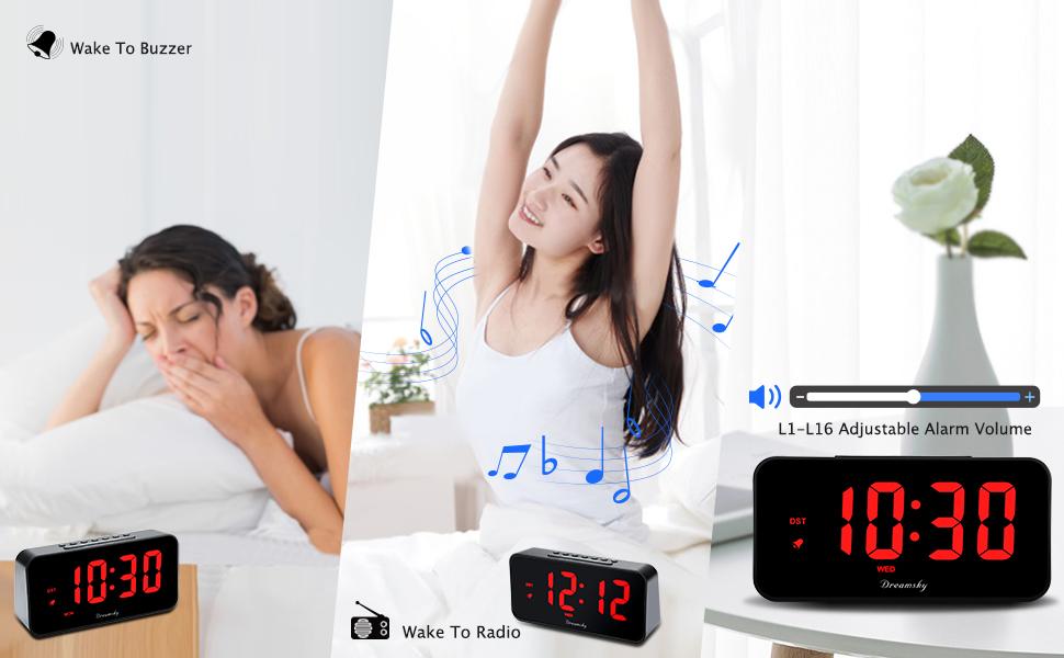 wake up to radio or doorbell and sleep timer
