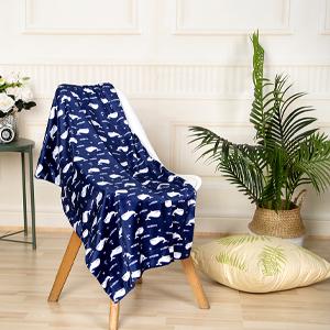 Minky Blanket Whales