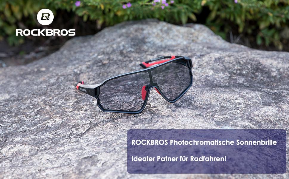 ROCKBROS Polarisierte Fahrradbrille Brille Winddicht Sonnenbrille UV400 Sport