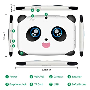 7 Inch Kids Tablet PC Specification