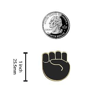 eal Sic Raised Fist Enamel Pin - Black Lives Matter Lapel Pin - Resist Protest Pin - BLM Pin
