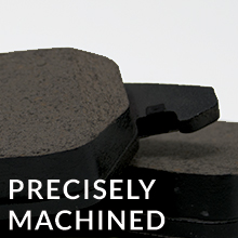 Precisely Machined Chamfered, slotted amp; shimmed*, maximizing brake performance amp; consistency