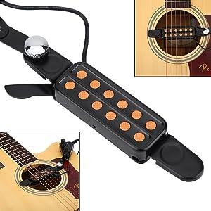 Akustische Gitarre Pickup 12 Loch Sound Pickup für Gitarre Teile Zubehör