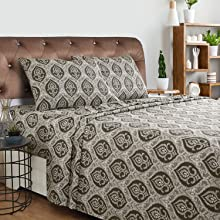 Designer Cotton Flannel Fleur-de-Lis Pillowcase Set